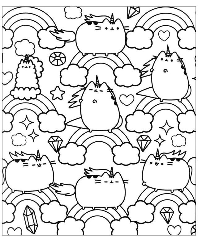 25 Inspired Photo Of Pusheen Cat Coloring Pages Entitlementtrap Com Unicorn Coloring Pages Pusheen Coloring Pages Printable Coloring Pages