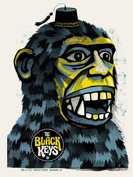 La banda nativa de Ohio formada por Dan Auerbach y Patrick Carney, The Black Keys, desde hace un par de años esta entre mis favoritas y me gustaría compartirles una pequeña recopilación de carteles de