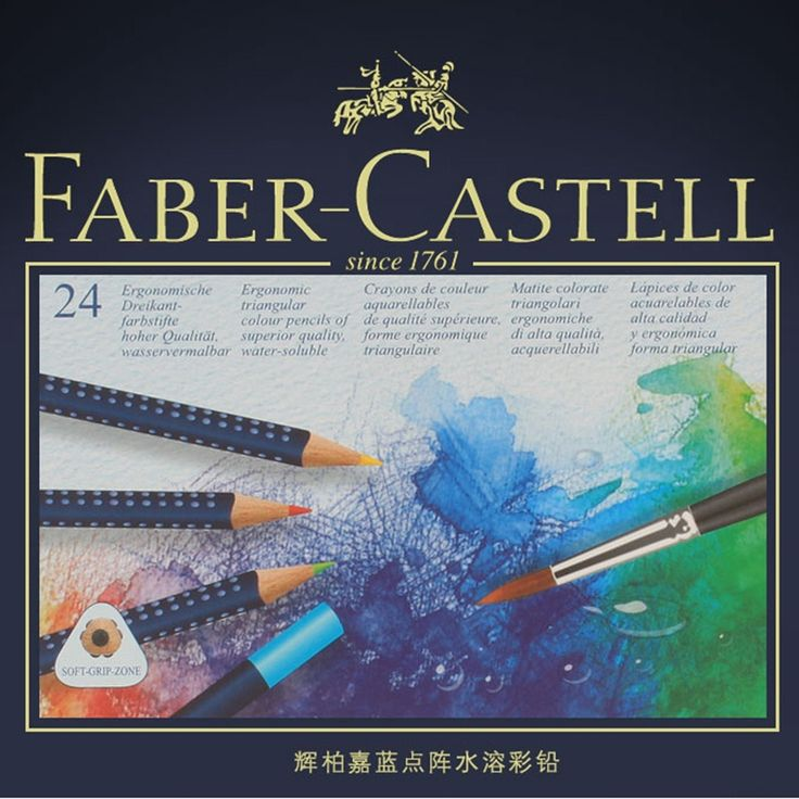 33.87$  Buy here - http://alici3.shopchina.info/1/go.php?t=32811450484 - FABER-CASTELL colors Pencils Professional Drawing Colored pencil Tin box Soluble Color pencil Art pencils set School Supplies  #buyonline
