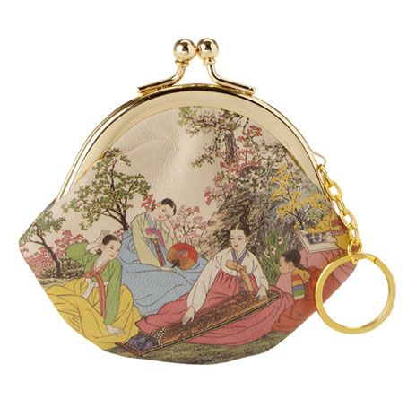 """Korean printed leather coin purse. """"The images are taken from 18th century traditional Korean paintings, and have been screen printed onto the leather exterior."""" £9.99"""