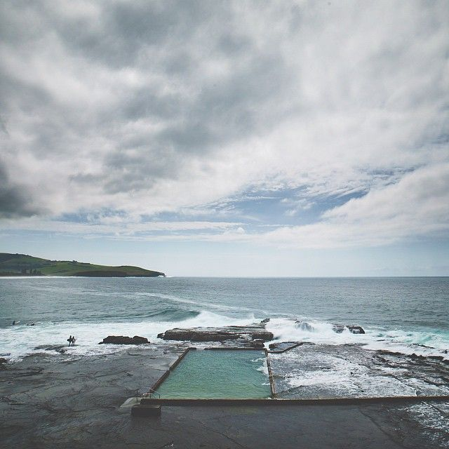 Wild Swimming Australia - the south end of Werrie beach south of Sydney