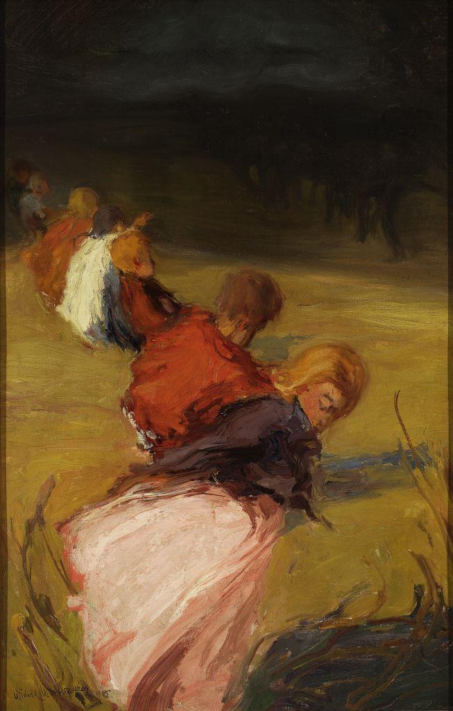 Witold Wojtkiewicz, Korowód dziecięcy, 1905
