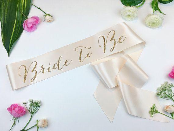 Bride to Be Sash Bachelorette Sash Bridal by ShadesOfPinkBtq