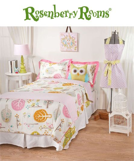 Complete the look of your big kids bedroom with the Lovebirds Tiger lily Orchid Twin Comforter and Sham Set from Lolli Living.  This whimsical yet modern twin bedding set is part of the Animal Tree Collection and will look great with other mix and match items from this collection!