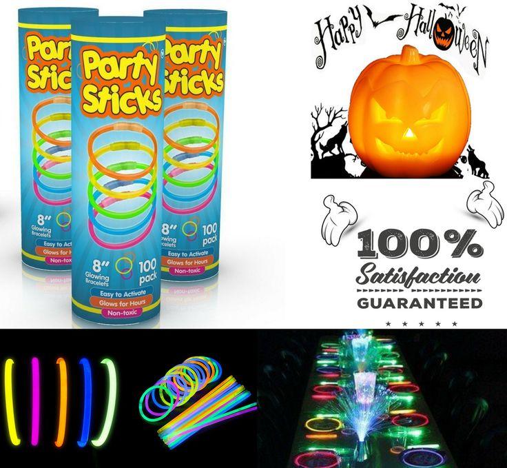 "Glow Sticks Bulk 300 Count - 8"" PartySticks Brand Premium Glow In The Dark Light #PartySticks"
