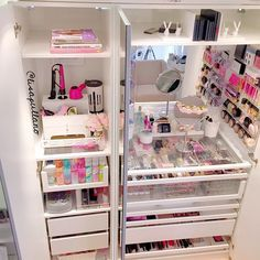 I hate to admit it but I have way too many Hair & Makeup goodies - I need to organize in something like this shelving unit closet