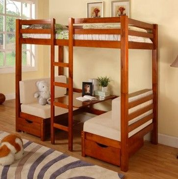 Kitchen table- with bunk bed /Sapton Twin over Twin Bunk Bed modern-beds
