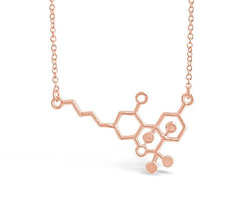 THC Molecule Necklace Cannabis Molecule Geeky Gift - 420 Shop