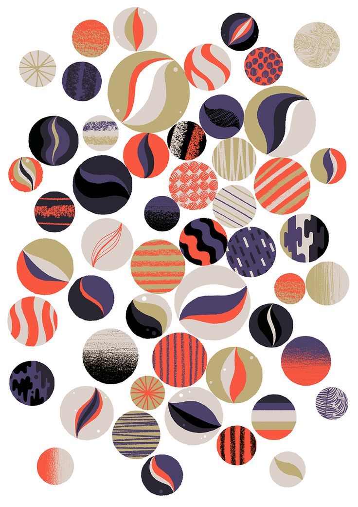Marbles by Adrian Johnson #illustration