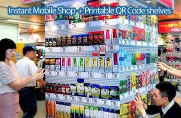 Instant Mobile Shop + QR Code Shelves