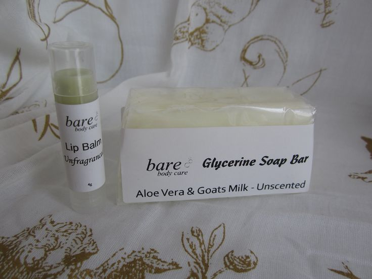 For sensitive skin. fragrance free Soap & Lip Balm