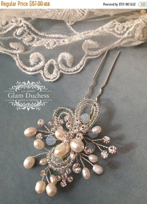 Bridal hair pin bridal headpiece bridal hair by GlamDuchess