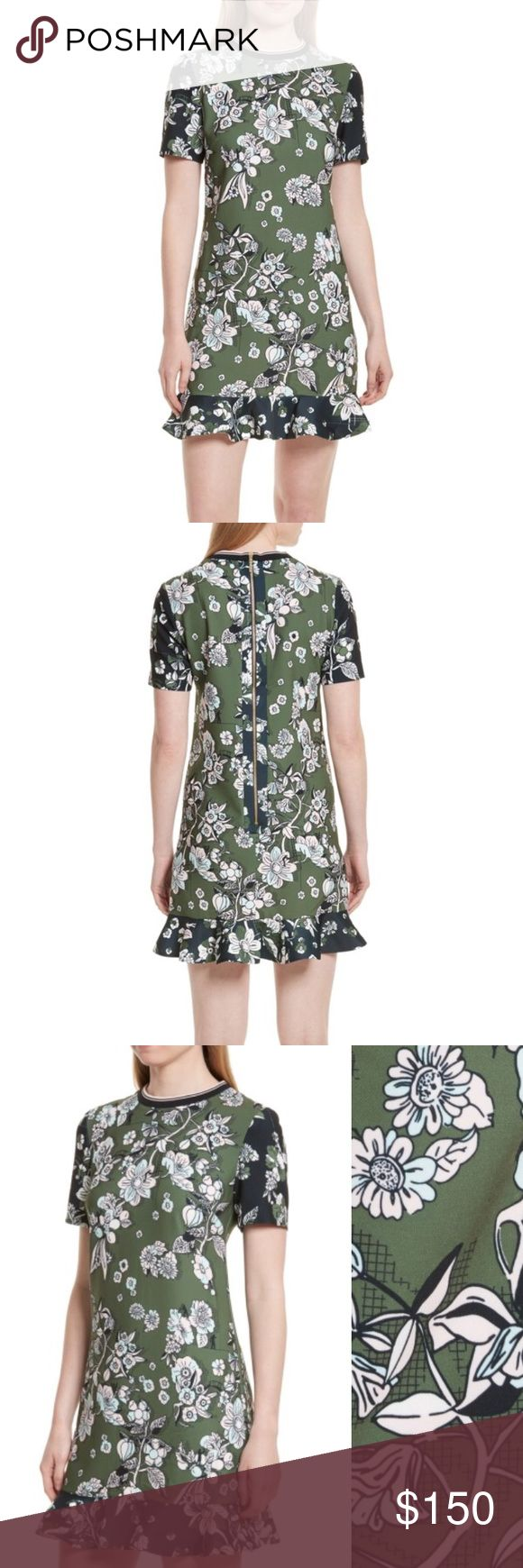 Invert color jpg online - Ted Baker Hoster Floral Print Ruffle Hem Dress