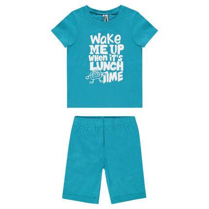 Pyjama court en jersey avec message printé  Main