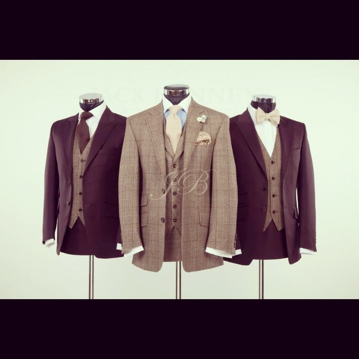 Brown tweed wedding suit & York hire suits  from Jack Bunneys