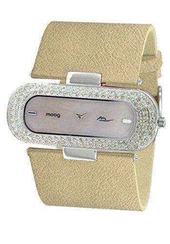 Moog Paris-Glam Damen-Armbanduhr Zifferblatt Champagner Armband champagner Leder Rindleder, hergestellt in Frankreich-m44088-005 - http://uhr.haus/moog-paris/moog-paris-glam-damen-armbanduhr-zifferblatt-in-2