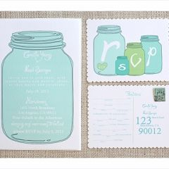These Lovely Mason Jar Free Printable Wedding Invitations Templates Include Invitation And Response Card Along With
