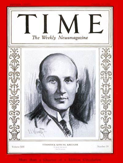 Ivar Kreuger -- Oct. 28, 1929