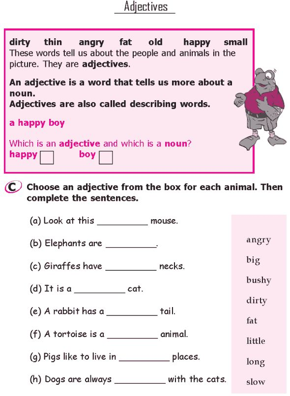 Grammar worksheets for grade 2 students