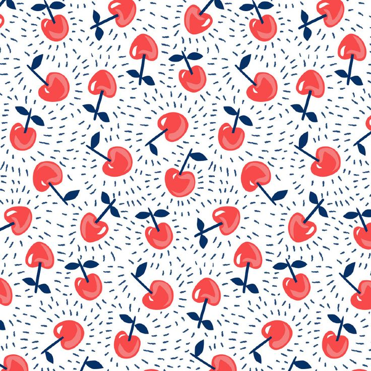 CHERRY PRINT DESIGN - Kate L Jones