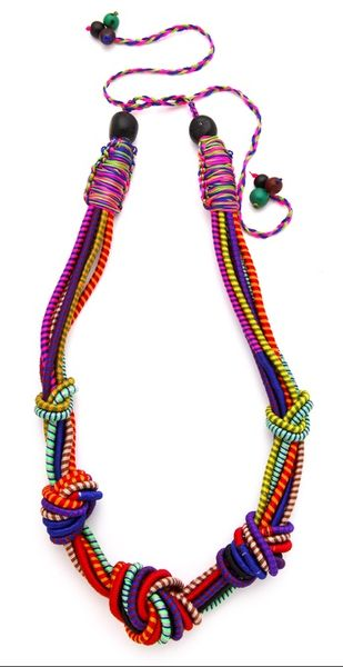 colorful... the perfect accessory for a plain t shirt of just about any color.