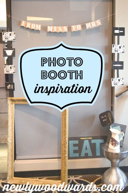 Fun and simple bridal shower photo booth set up - simple ideas for any party or occasion.