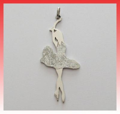 Ballerina ciondolo in argento 925  925 silver pendant dance