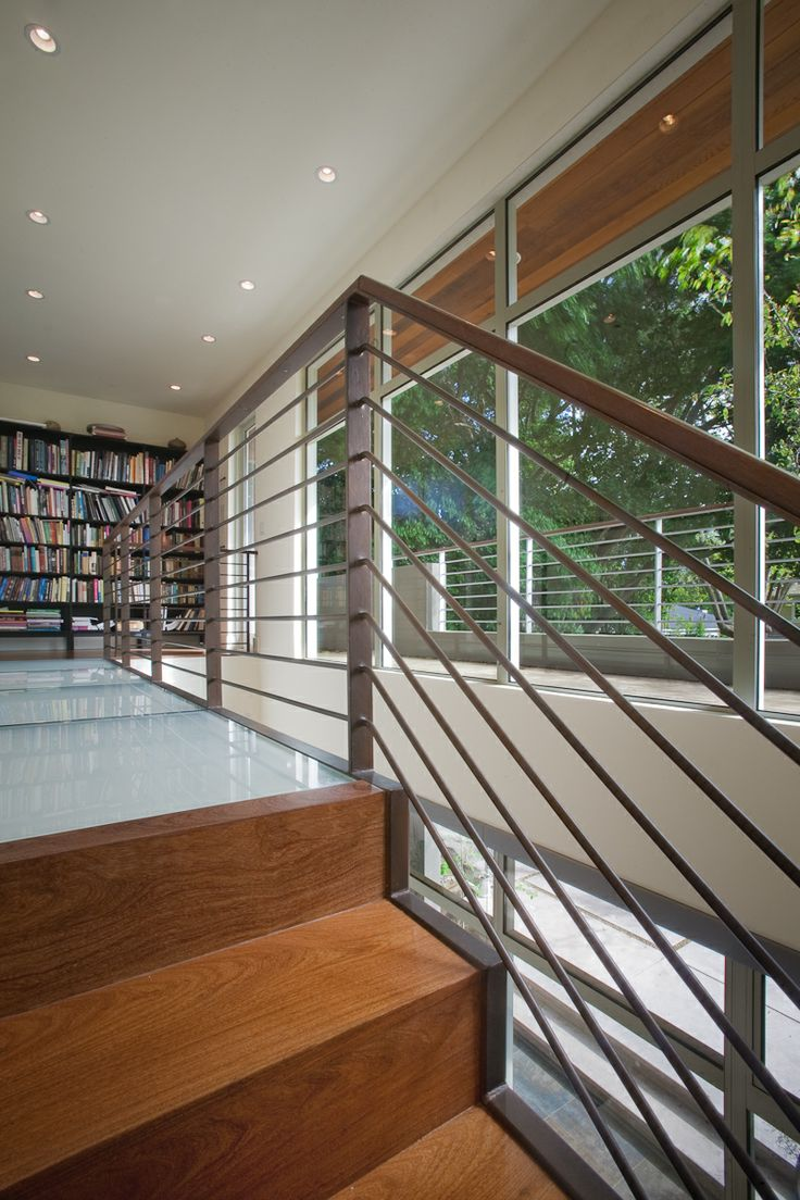 Menlo Park Townhouse By John Lum Architecture: Halfway Up The Stairs The New Bridge Passes By Two New