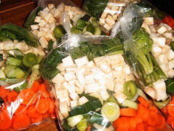 Suppengemüse zum Einfrieren selbstgemacht - Rezept