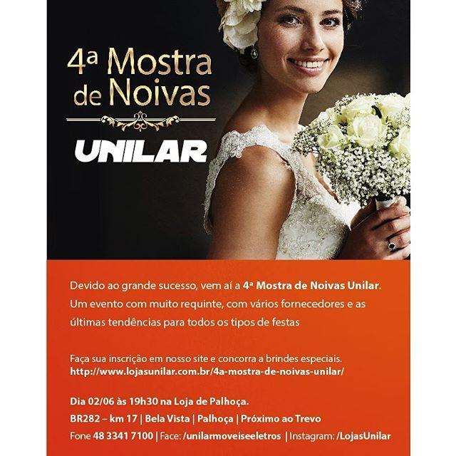 A Ícone Design tem presença confirmada na 4ª mostra de noivas UNILAR!  A ser realizado dia 02 de Junho às 19h30 na Loja de Palhoça. BR282 - Km 17 | Bela Vista | Palhoça | Próximo ao Trevo  Aproveite e visite nossa Stand.
