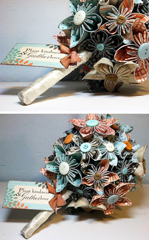 DIY paper flowers - saw this done with pages from a book and it looked very cute :)