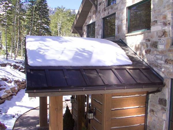 Roof Heating Panels Keep Roof Edges Free From Snow And Ice.