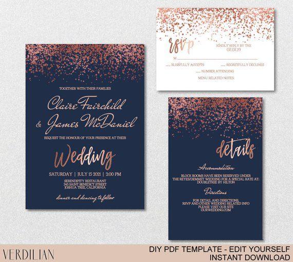 Wedding Invitation Template Suite Calligraphy Script Instant Etsy In 2021 Wedding Invitations Printable Templates Wedding Invitation Templates Wedding Invitations Diy