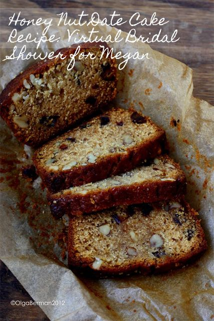 Honey Nut Date Cake: perfect for Rosh Hashana or whenever you want something sweet and awesome ;)