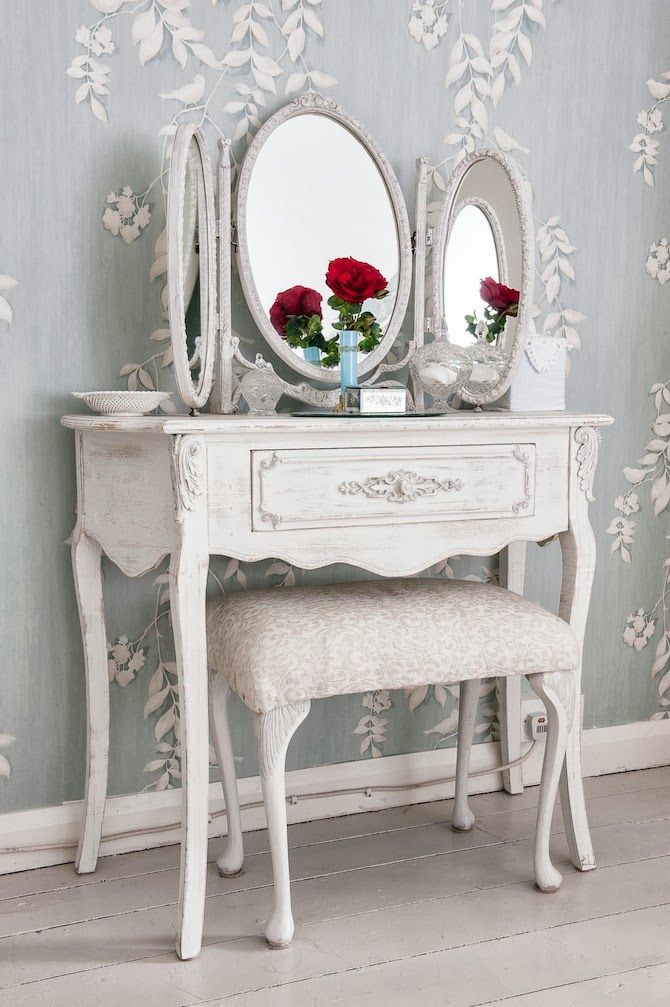 Shabby Chic Dressing Table Could Be Seperate And Use Glued On Faux Wood Trimming That Will Look Like Its Been There Forever As One Decorative Piece