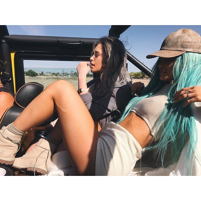 Pin for Later: How Kylie Jenner Is Nothing Like Your Typical Teenager She's already a Coachella veteran. Kylie showed plenty of skin at 2015 festivities. It made her Coachella debut in 2014 seem like ages ago.