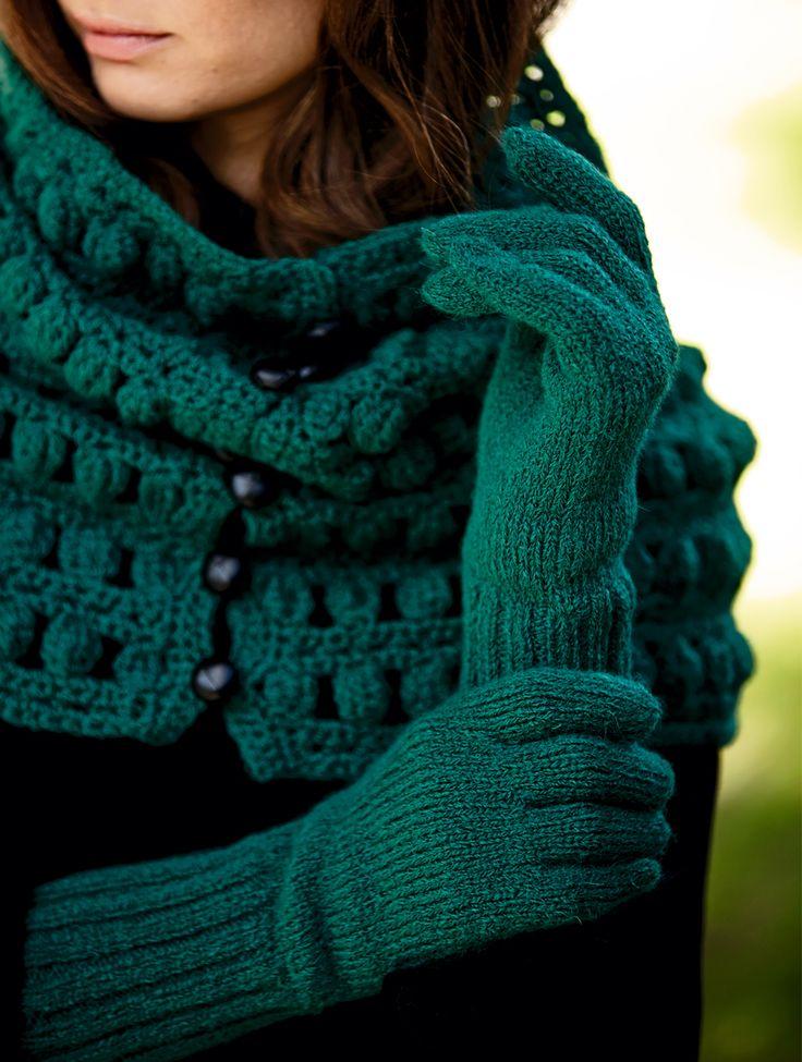 Перчатки с широкой резинкой - схема вязания спицами. Вяжем Перчатки на Verena.ru
