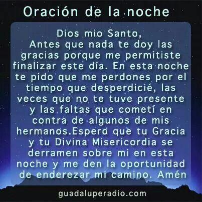 ★ ORACIÓN DE LA NOCHE. !!!★