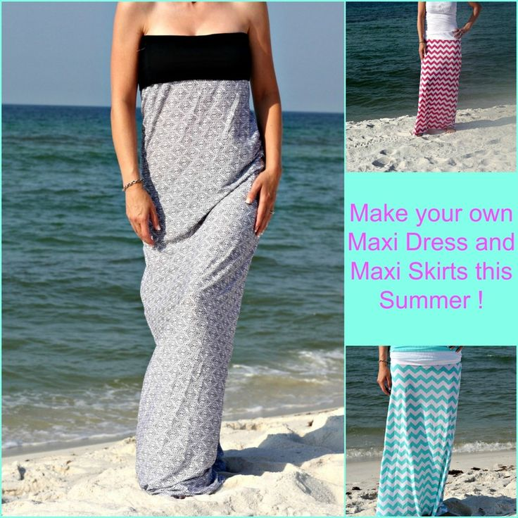 How to Make Your Own Maxi Dress and Maxi Skirts I had so much fun making these Maxi skirts and the dress, and I was really surprised at how easy it was. I never confess to being a seamstress. In ...