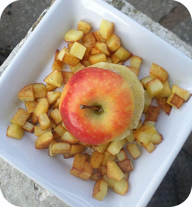 Pomme farcie au boudin blanc et pommes Ariane les Naturianes® sautées par La petite cuisine de Sabine