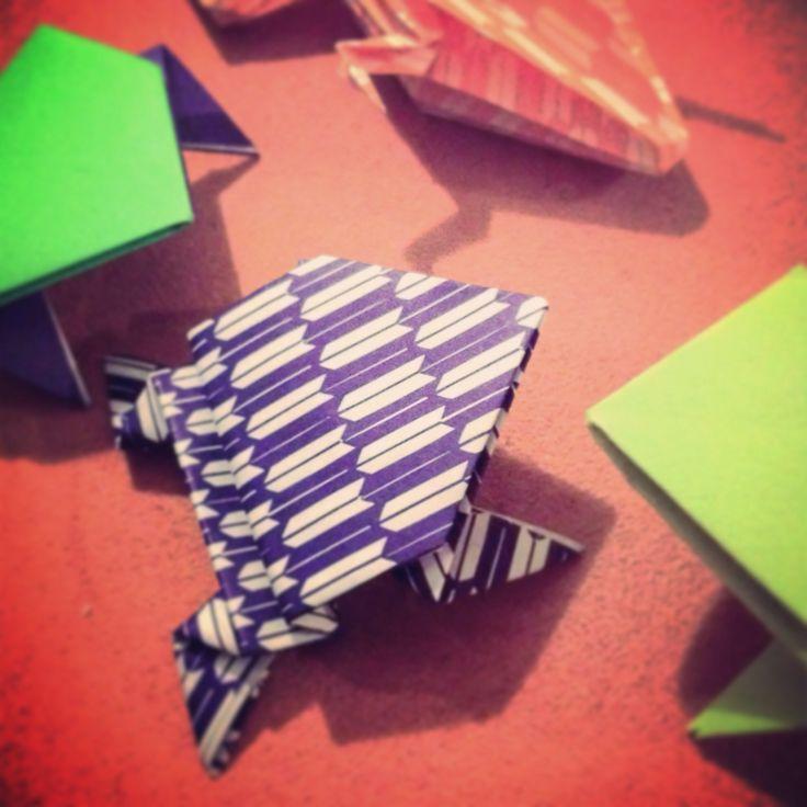 Frog Origami had fun doing it! #origami #folding #design