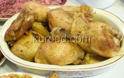 Куриные голени, запеченные в майонезно-чесночном соусе