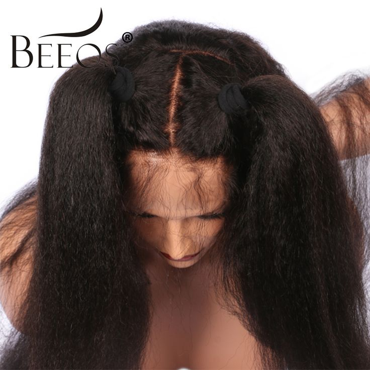 Find More Human Wigs Information about BEEOS Kinky Straight Full Lace Human Hair Wigs Pre Plucked Bleached Knots Non Remy Brazilian Hair Lace Wigs With Baby Hair,High Quality wig with baby hair,China wig bleach Suppliers, Cheap wig withe from BEEOS Official Store on Aliexpress.com
