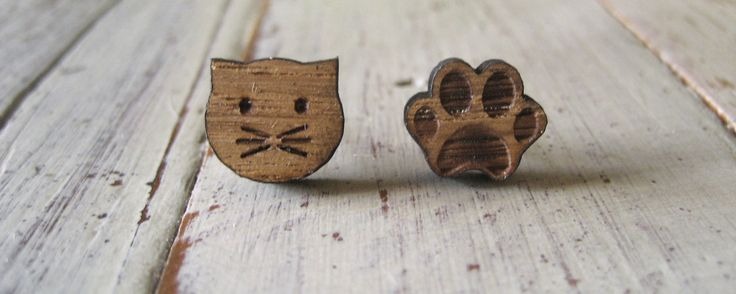 Cat & Paw earrings