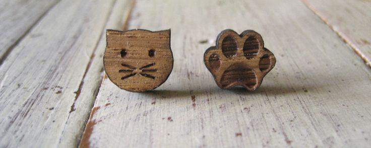 Cat & Paw earrings