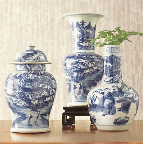 Chinoiserie Vases Asian Gump S San Francisco Pinterest White Porcelain And Blue