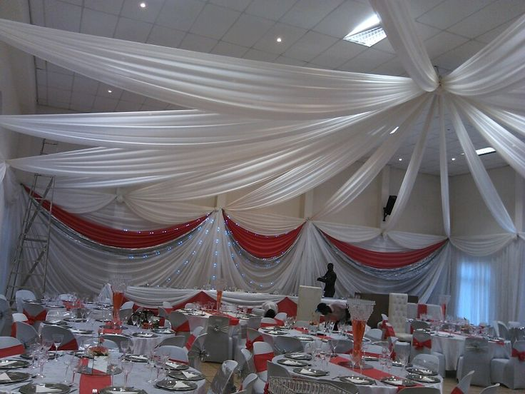 Wedding roof draping and sidewalls