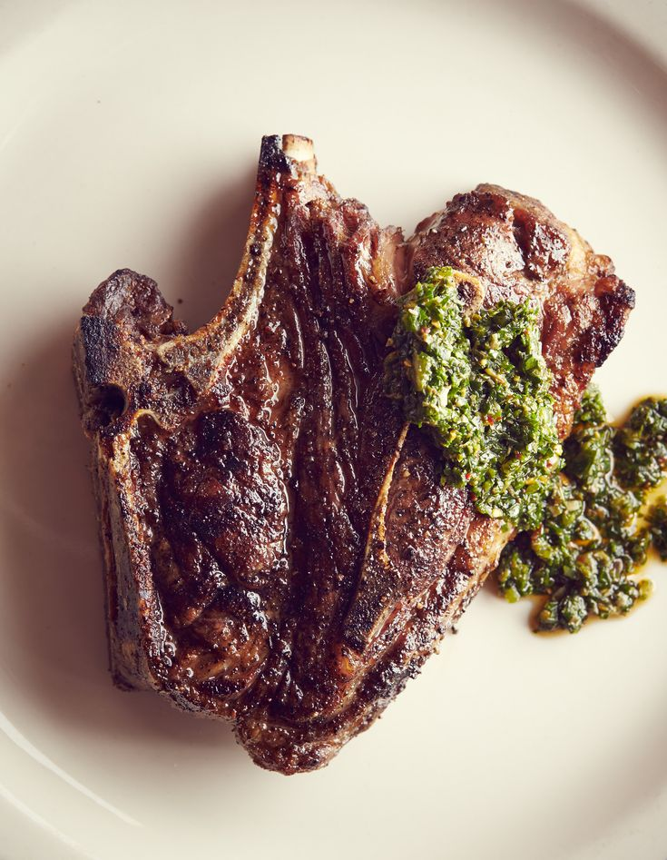 Lamb Shoulder Blade Chops With Mint-Gremolata Butter: For a wine ...