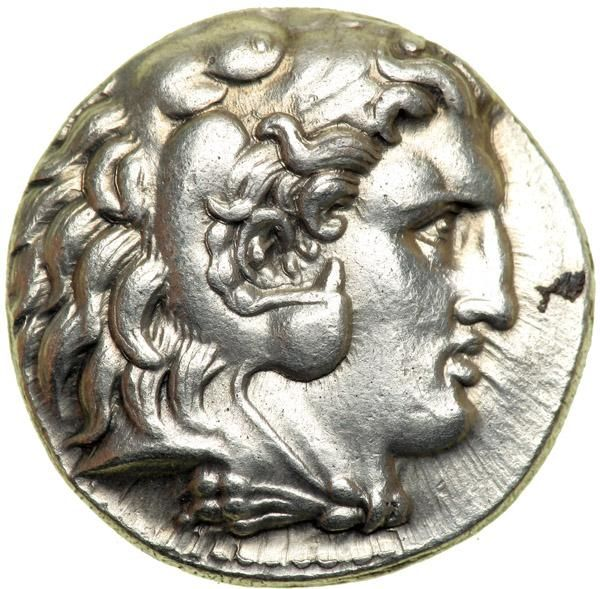 Macedonian Kingdom. Alexander III, the Great, 336-323 BC. AR Tetradrachm (17.1g). EF Mint of Babylon, struck 317-311 B.C. Head dof Heracles right in lion skin headdress. Zeus seated left, holding eagle, H in left field, monogram under throne. Price 3709; Muller 713. Estimated Value $400 - 500. #Coins #Ancient #MADonC