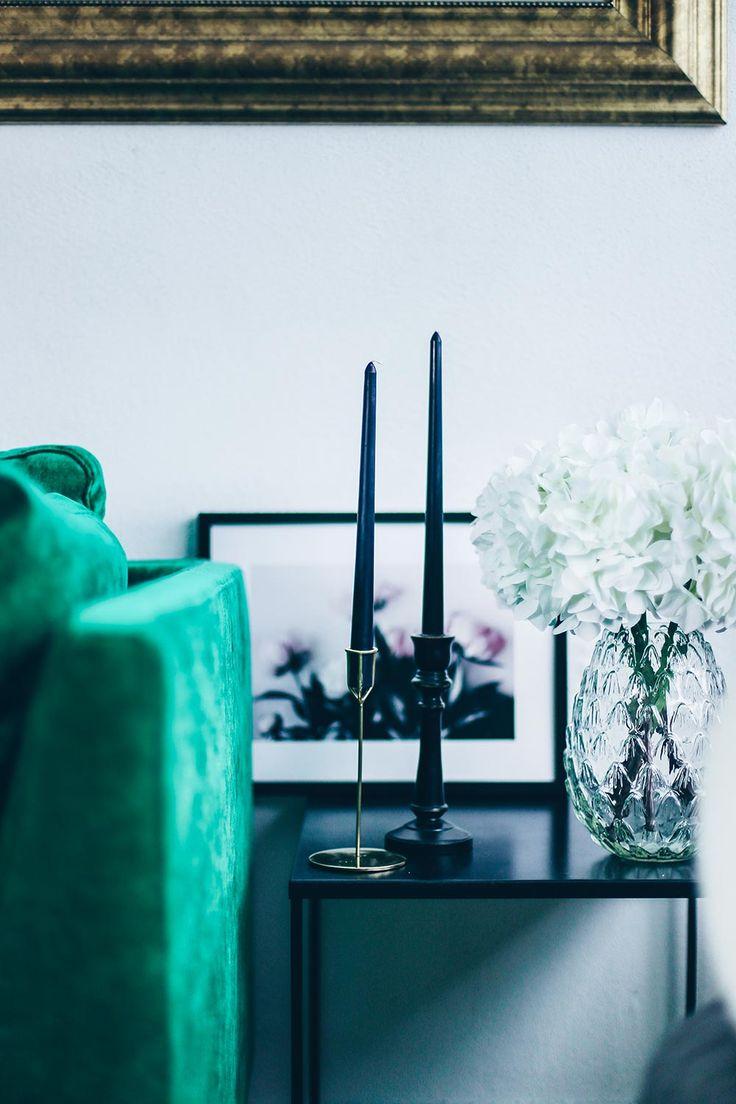 unsere neue wohnzimmer-einrichtung in grün, grau und rosa, Wohnzimmer dekoo